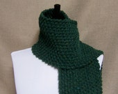 Men's or Unisex Scarf in Forest Green