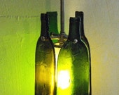 Bottles Up - One-of-a-kind Recycled Wine Bottle Pendant