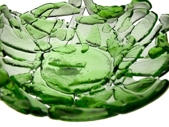 Crushed Bottle Bowl - Pale Green