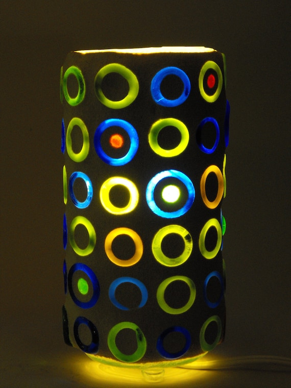 Recycled Glass Lamp - Full Circle Color Mix