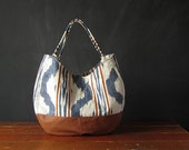 the IKAT HOBO. ooak, vintage ikat and faux leather.