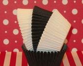 Elegant Black and White Cupcake Liners   (50)
