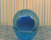 Elegant Light Blue Foil Cupcake Liners   (50)