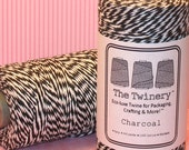 Charcoal Black Bakers Twine from The Twinery  (240 Yd Roll)