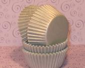 MINI Silver Sheen Cupcake Liners  (50)