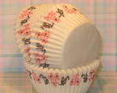 Pink Floral Cupcake Liner      (Qty 45)