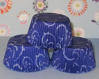 Blue Swirlies Cupcake Liners   (Qty 40)