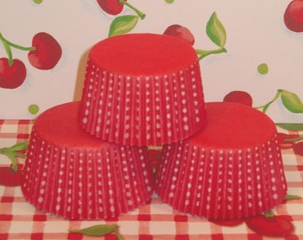 Red Dotties Cupcake Liners   (Qty 40)