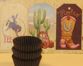 MINI Brown Cupcake Liner    (Qty 50)