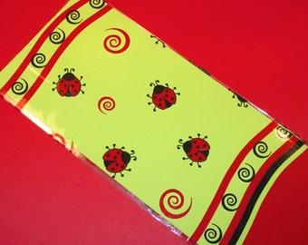 Lady Bug Cellophane Gift Bag (Qty 15) Cellophane Gift Bags, Cellophane Bags, Party Favor Bags, Gift Bags, Decorative Cellophane Gift Bags
