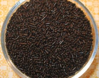 Dark Chocolate Brown Jimmie Sprinkles   (4 oz) Brown Jimmie Sprinkle, Brown Jimmie Sprinkle, Jimmies, Brown Sprinkle, Brown Cupcake Sprinkle