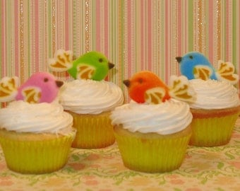 Edible Love Birds Sugar Toppers  (8)