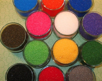 Sanding Sugar - (1 1/2 oz Each)  You Select 8 Desired Colors