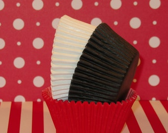 Red, White and Black Cupcake Liners   (45)