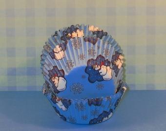 Winter Wonderland Snowman Cupcake Liners  (40)
