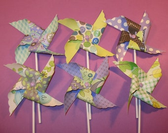 Lavender Coastal Breeze Pinwheels  (12)