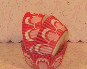 Pink Cupcake Lace Tart Liners - (40)  Read Sizes Before Ordering  Pink Lace Tart Liners, Pink Tart Liners, Pink Tart Baking Cups,