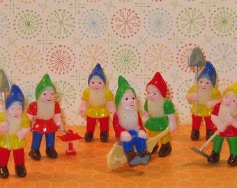 Garden Gnome Toppers  (14 pc set) Garden Gnome Picks, Garden Gnome Cake Toppers, Gnome Cake Toppers,  Gnomes, Gnomes Gingerbread House Decor