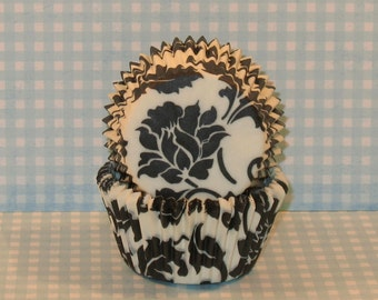 Black and White Elenor Cupcake Liners By Vestli House  (20)