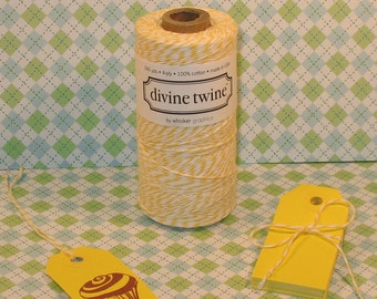 Yellow Shipping Tags  (25) and Divine Twine  (5 Yds)
