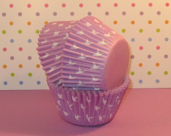 Lavender Doves Cupcake Liners  (40)