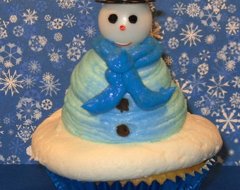 Snowman with Top Hat Picks   (Qty 12)