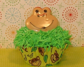 Monkey Cupcake Ring Toppers   (12)