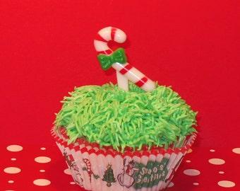 Candy Cane Cupcake Picks  (12)