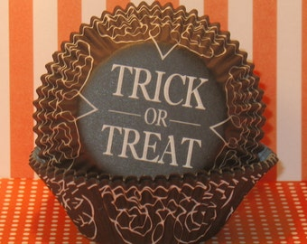 Trick or Treat Halloween Cupcake Liners  (40)