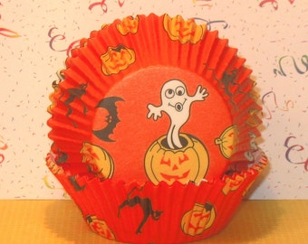 Happy Halloween Ghouls and Goblins Cupcake Liners (40)