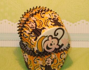Gone Banana's Monkey Cupcake Liners  (32)