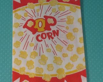 Retro Medium Popcorn Bags     (Qty 25)
