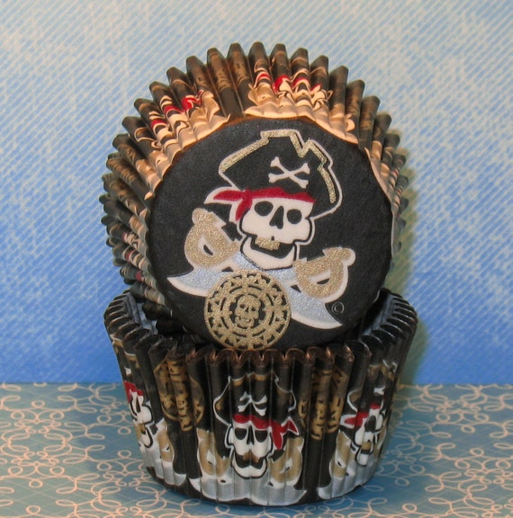 Pirate Bling Cupcake Liners  (30)