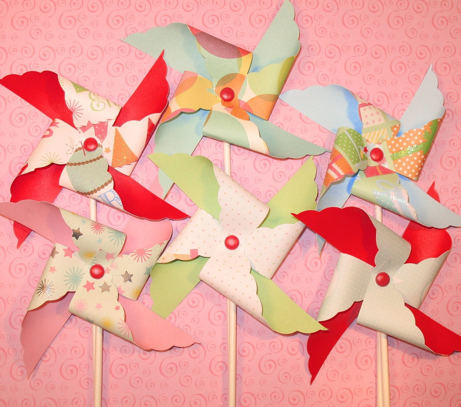It 39 s a party pinwheels with martha stewart designs for Baby shower decoration ideas martha stewart