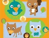 Nursery Art Print - Forest Friends