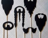 Beard Me - Set of Six Beards on a Stick