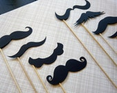 Mustache Party. Stache-tastic.  Set of Eight Mustaches