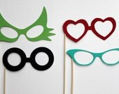 Photobooth  Party Prop Glasses - Set of Four
