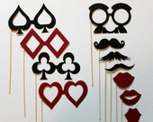 The Ultimate Casino Royale Party on a Stick Kit - Eleven Photobooth Party Props