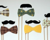 Moustache on a Sick - Photo Booth Props on a Stick