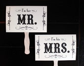Mr. and Mrs. Double Sided Paddle Fans