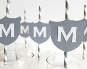 Monogram. Paper Straws. Family Crest. Weddings. Birthdays. Baby Showers.
