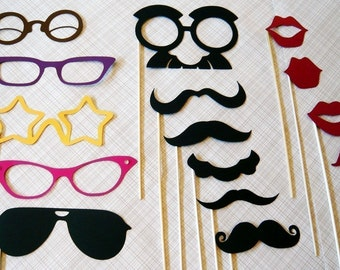 Mustache on a Stick. Photo Booth Props. Photobooth Photo Props- Seventeen Photobooth Party Props