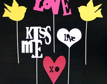 Love on a Stick - Photobooth Props on a Stick