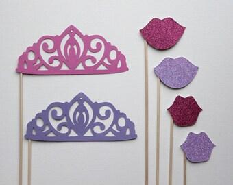 Photo Booth Props. Photo Booth. Photo Props - Glittered Princess