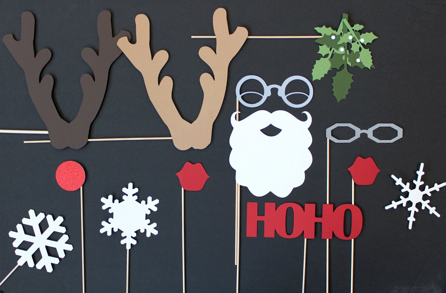 Photo booth props christmas photobooth santa and