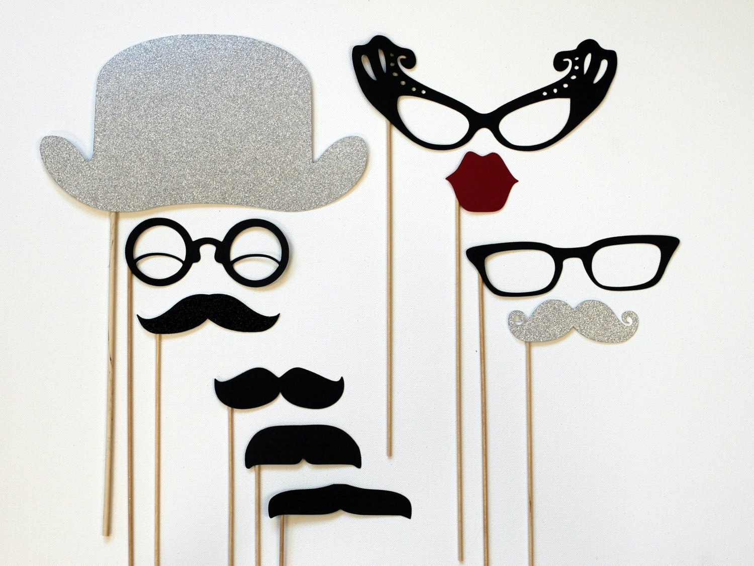 Wedding Photography Props: Photobooth Props. Photo Prop. Wedding Photo By LittleRetreats