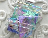 Dichroic Fused Glass Pendant,  Dichroic Glass Jewelry, Dichroic Necklace, Rainbow Pendant X2998