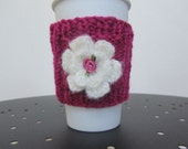 Coffee Cup Flower Cozy