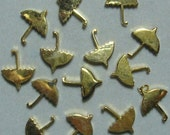 12 gold tone vintage umbrella charms